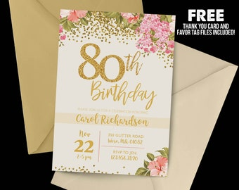 80th birthday invitation romeondinez 80th birthday invitation filmwisefo