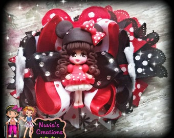 Minnie Mouse (inspired) hairbow