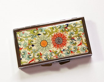7 day pill box, Venetian pill case, Pill case, Asian, Pill Container, 7 sections, 7 day, Pill Box, Venetian Design, Venetian Print (4977)