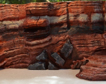 3D painted desert background