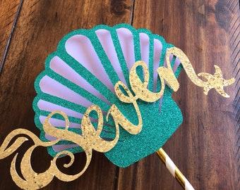 Ariel Cake topper, Mermaid Cake topper, Under the Sea Cake topper