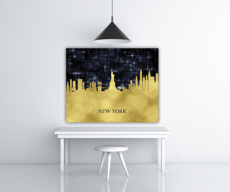 New York City Art NYC Art I Love New York Gold Foil Print