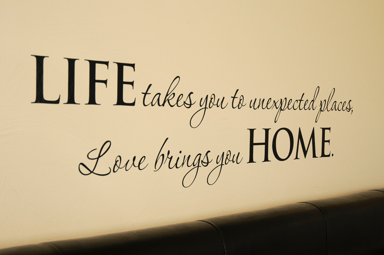 Life Home Quote Wall Decal