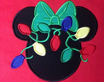 Disney Christmas Lights Minnie - Personalized - Youth