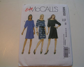 McCalls Pattern M6200 easy Miss Dresses and Belt