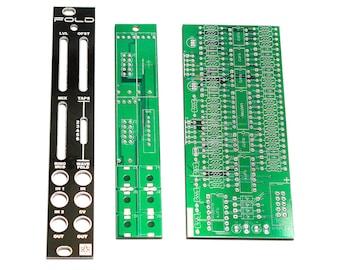 Synthrotek FOLD PCBs and Panel - Wavefolder / Ring Modulator Eurorack Module