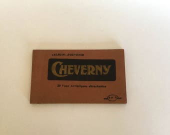 Vintage Art Deco French Postcard Book- Cheverny