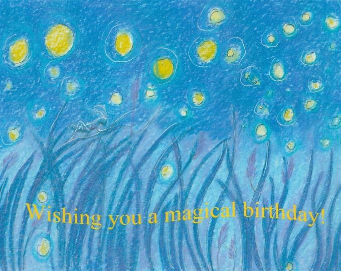 Firefly and cricket birthday card