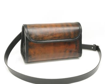 Small Leather Messenger Purse Crossbody
