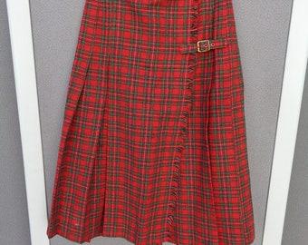Vintage Joseph Magnin Plaid Skirt