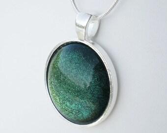 Olive Blue Green Glitter Nail Polish Necklace Jewelry Indigo Bananas Low Key Nail Polish