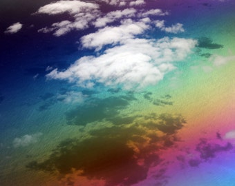 Rainbow Art - Ocean Print / Ocean Decor - Large Wall Art Surreal Art Print Colorful Art - Surreal Photography - Bright Art / Bright Abstract