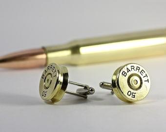 Bullet Cufflinks Barrett 50 BMG Caliber Sniper Cuff Links 50 Cal Bullet Shell Casings Steam Punk Victorian Military Wedding Police Jewelry