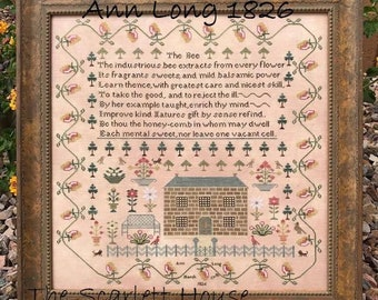 NEW! SCARLETT HOUSE Anna Grater 1812 counted cross stitch patterns at thecottageneedle.com 2018 Nashville Market