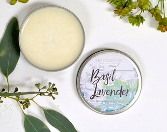 Basil Lavender Wickless Candle