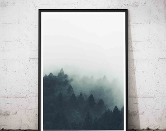 Extreme Minimalism, Minimalist Large Art, Greatest Adventure, Modern Large Print, Wilderness, Large Green Artwork. Forest print, Tree Print