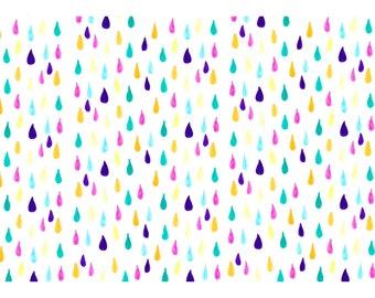 Rainbow Raindrops A4 Card