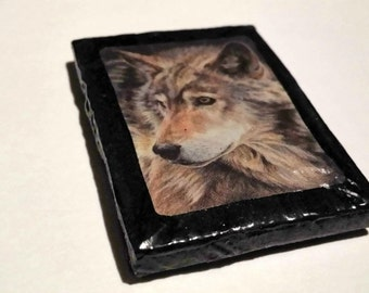 COYOTE Hand-Crafted Refrigerator Magnet.Adopt this Creature of the Wild to decorate your home. Fridge decor. CLEARANCE SALE Item!!
