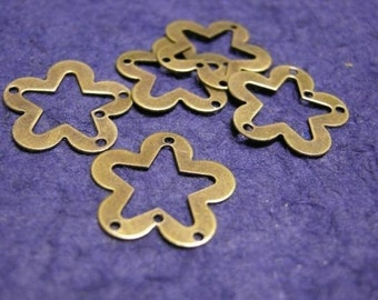 30pc antique bronze metal heart charm-913A