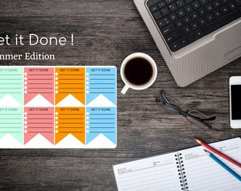Get it Done stickers - Erin Condren vertical life planner - To Do list - Agenda - Organization