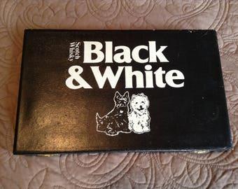 Black &White Scotch Whiskey Poker Game Case
