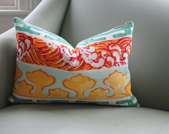 Jim Thompson Enter the Dragon Chinoiserie 12 x 18 Inch Cushion Pillow Cover