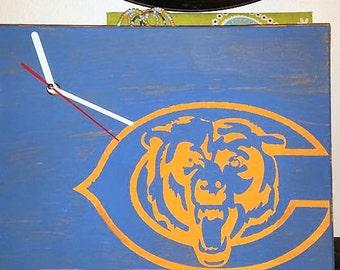 Chicago Bears canvas clock