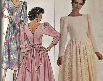 Butterick 4211    Misses/Petites Special Occasion Dress with Fitted Bodice    Size 6-10, or Size 12-16   Uncut