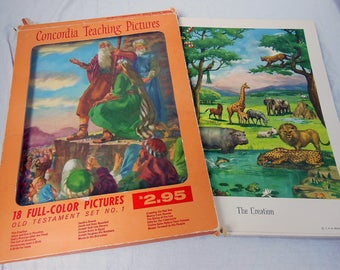 Concordia Bible TEACHING PICTURES Complete Set of Old Testament Bible Art Prints
