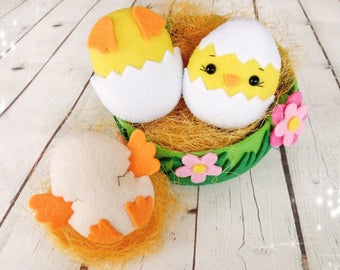 Easter Chick In Egg Ornaments Easter Gifts For Children Birthday Decorations Easter Eggs Personalized Nursery Decor Easter Basket Gifts Baby