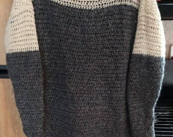 Oversized Sweater, Hand Crocheted Sweater