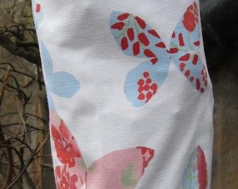 Peach Butterflies Carrier Bag Holder