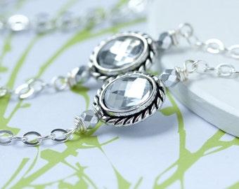 Silver Eyeglass Chain, Lanyard, Eyeglass Necklace, Silver Glasses Chain, Eyeglass holder necklace, Reading Glasses Chain, Silver Eyeglass