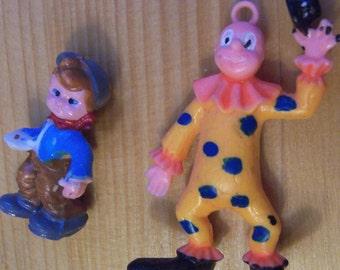 two plastic vintage toy figurines