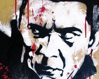 Bela Lugosi as Dracula - 12 x 18 High Quality Pop Art Print