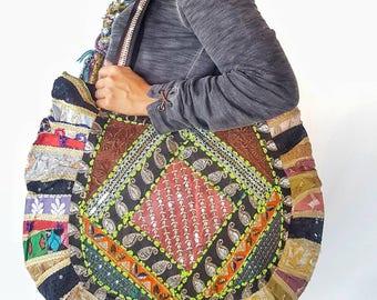 Beach Bag, Handmade, Festival Bag, Travel, Tote, shoulder Bag, hippie boho bag