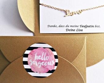 Godmother's gift // GOLD bracelet // Favorite person