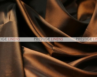 CLOSEOUT FABRIC - Solid Taffeta Smooth Dress Apparel - Brown - 1 Yard
