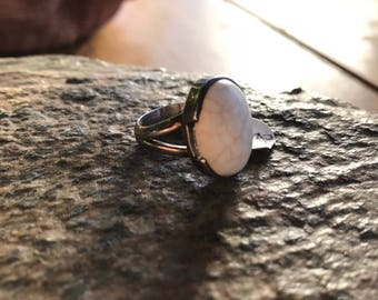 Sterling Silver Howlite Ring