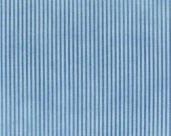 Anns Arbor Cream Medium Blue 14849 15 - Moda Fabrics 100% Cotton Quilting Fabric by Minick and Simpson