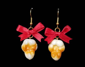 Night At the Movies Popcorn Earrings - 22+ Bow Colors Available!