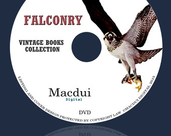Falconry, Coursing, Hawking Vintage Books Collection 37 PDF E-Books on 1 DVD