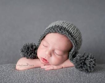 Newborn Hat Boy, Newborn Pom Pom Hat, Newborn Photo Prop Boy, Newborn Photo Prop Hat, Newborn Photo Outfit Newborn Boy Hat Newborn Boy Props