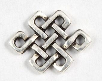 12mm x 10mm Antique Silver Tierracast Eternal Knot Link #CKA057