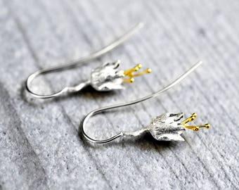 """925er Silver Earrings """"Bellflowers"""" (OHR925-86)"""