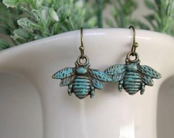 Antique bumblebee Earrings
