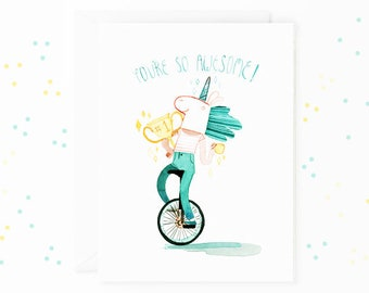 You're So Awesome Card - Appreciation Greeting Card - Bestie Card - Best Friends
