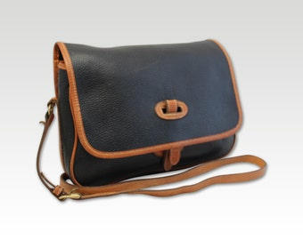 Vintage Brown Leather Saddle Bag, Messenger, Cross Body Bag
