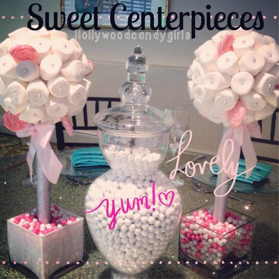Marshmallow Lollipop Candy Land Centerpiece Topiary Tree