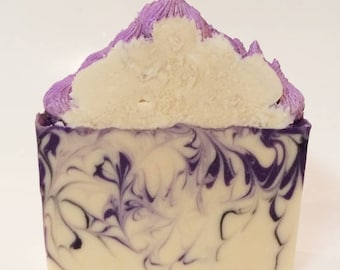 Purple Soap - Purple Bridal Shower - Novelty Soap - Soap Bar Favors - Gifts Under 10 - Cold Process Soap - Purple Mediterrarean Fig Soap